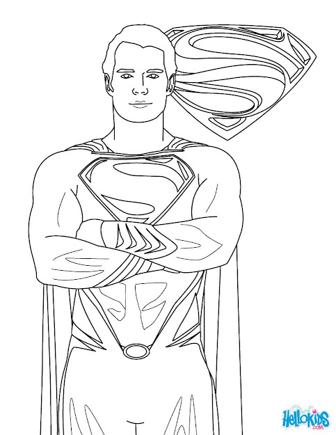 Superman Superman Free Coloring Page