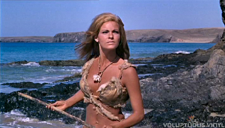 Raquel Welch in fur bikini with spear in One Million Years BC