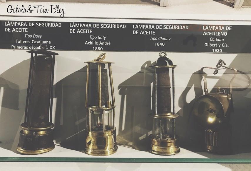 Lámparas utilizadas en las minas