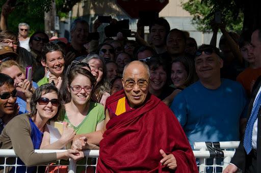His Holiness the Dalai Lama outside of Maitripa College, Portland, Oregon, U.S., May 10, 2013. Photo by Marc Sakamoto.