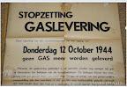 Stopzetting gaslevering donderdag 12 oktober 1944