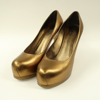 Yves Saint Laurent Metallic Platform Pumps
