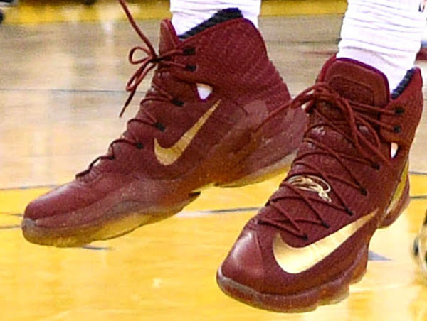 Closer Look at James LeBron 13 Elite NBA Finals PE from Game 1