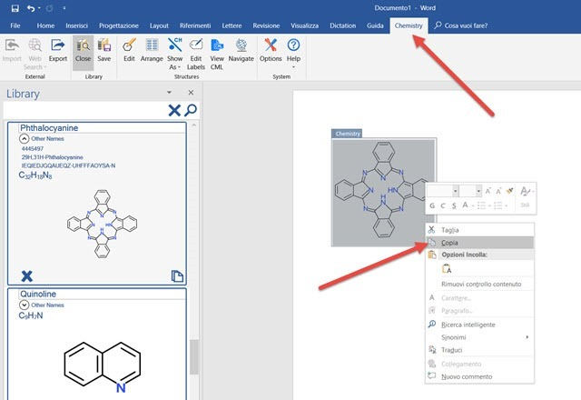 formula-chimica-struttura-word