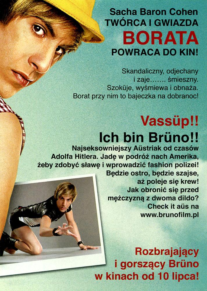 Ulotka filmu 'Brüno (tył)'