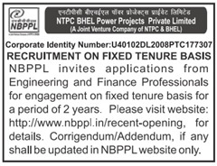 NBPPL Recruitment 2016-17 www.indgovtjobs.in