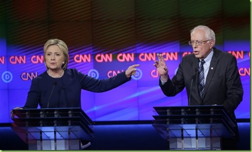 democrat debate clinton sanders