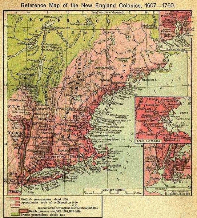 New england colonies 1607 1760