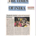 Article in NIE Times - Celebration of Hindi Divas