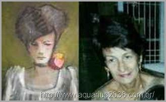 Fernanda Guarines, desencarnada retratada em pintura.