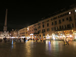 Piazza Navona - once a racetrack in ancient times, now one of those centers of hanging out every city has, like the Third St Promenade in Santa Monica