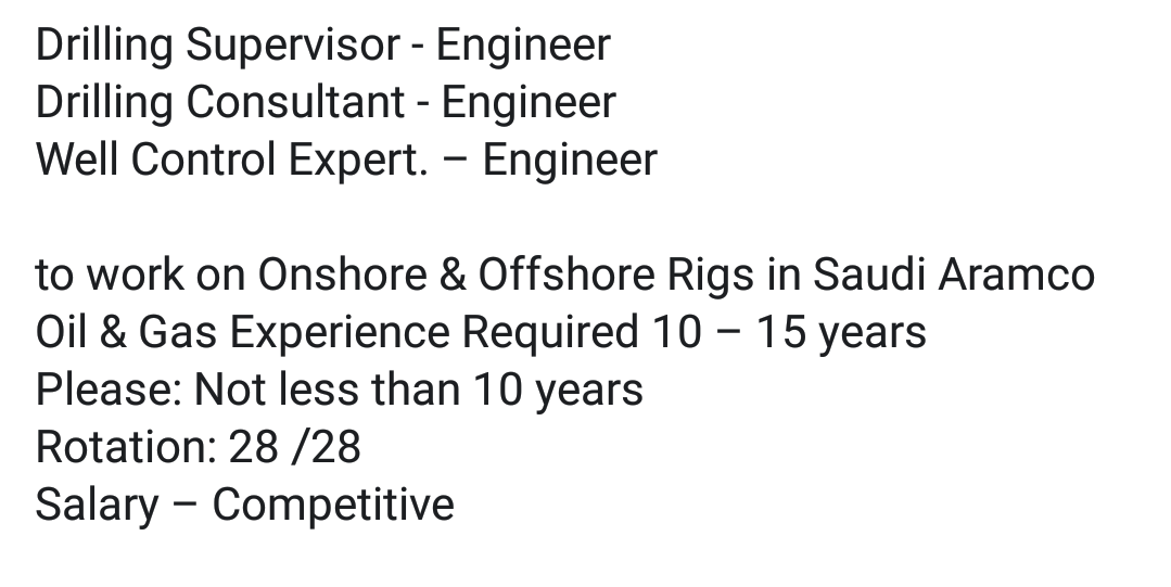 Oil and Gas Jobs: Drilling and Well Control Jobs