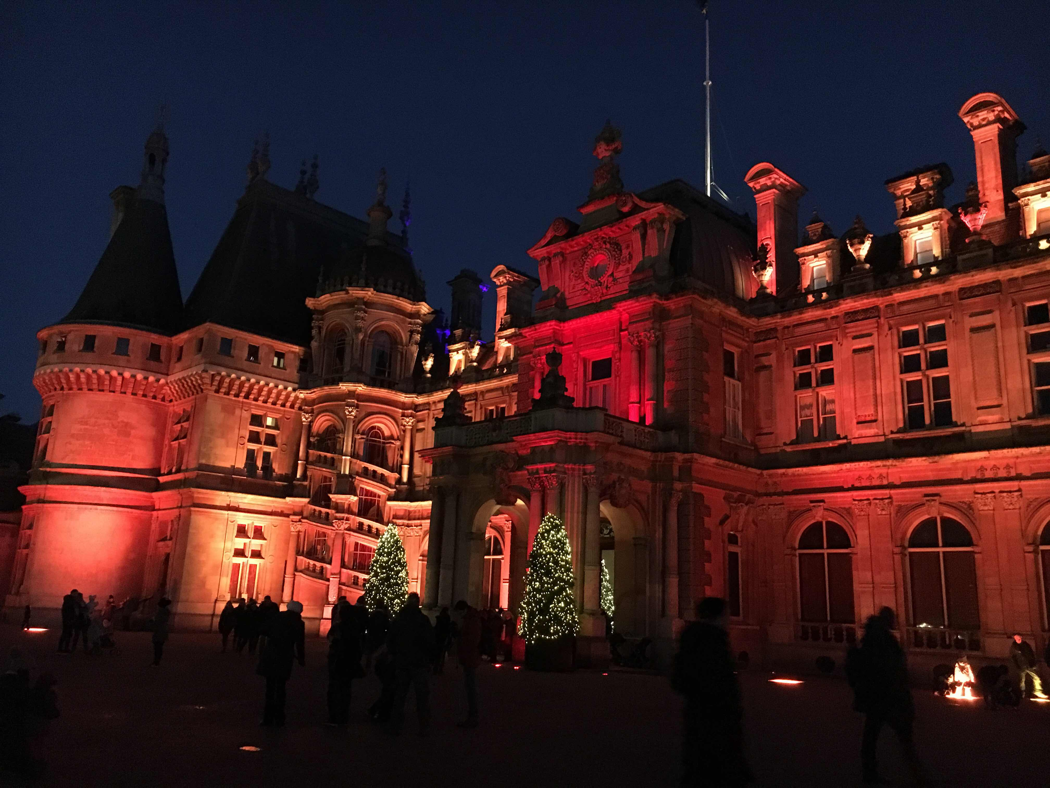 Waddesdon Manor bathed in colour