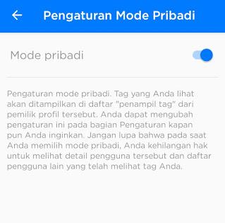 Aktifkan mode pribadi getcontact