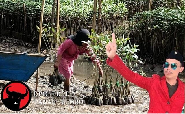 DPC PDIP Tanah Bumbu Peduli Lingkungan, Akan Tanam 5 Ribu Bibit Mangrove