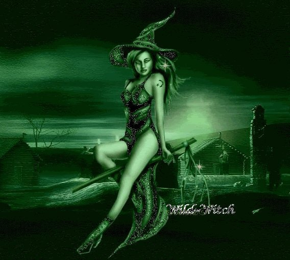 Witch In Green Light, Green Witches