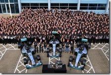 Mercedes festeggia titolo Costruttori