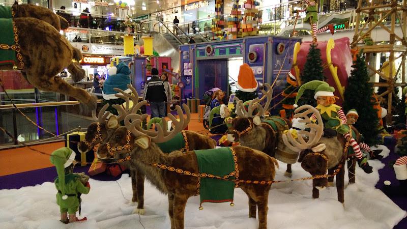 Die Weihnachtslandschaft im Berliner Europa-Center