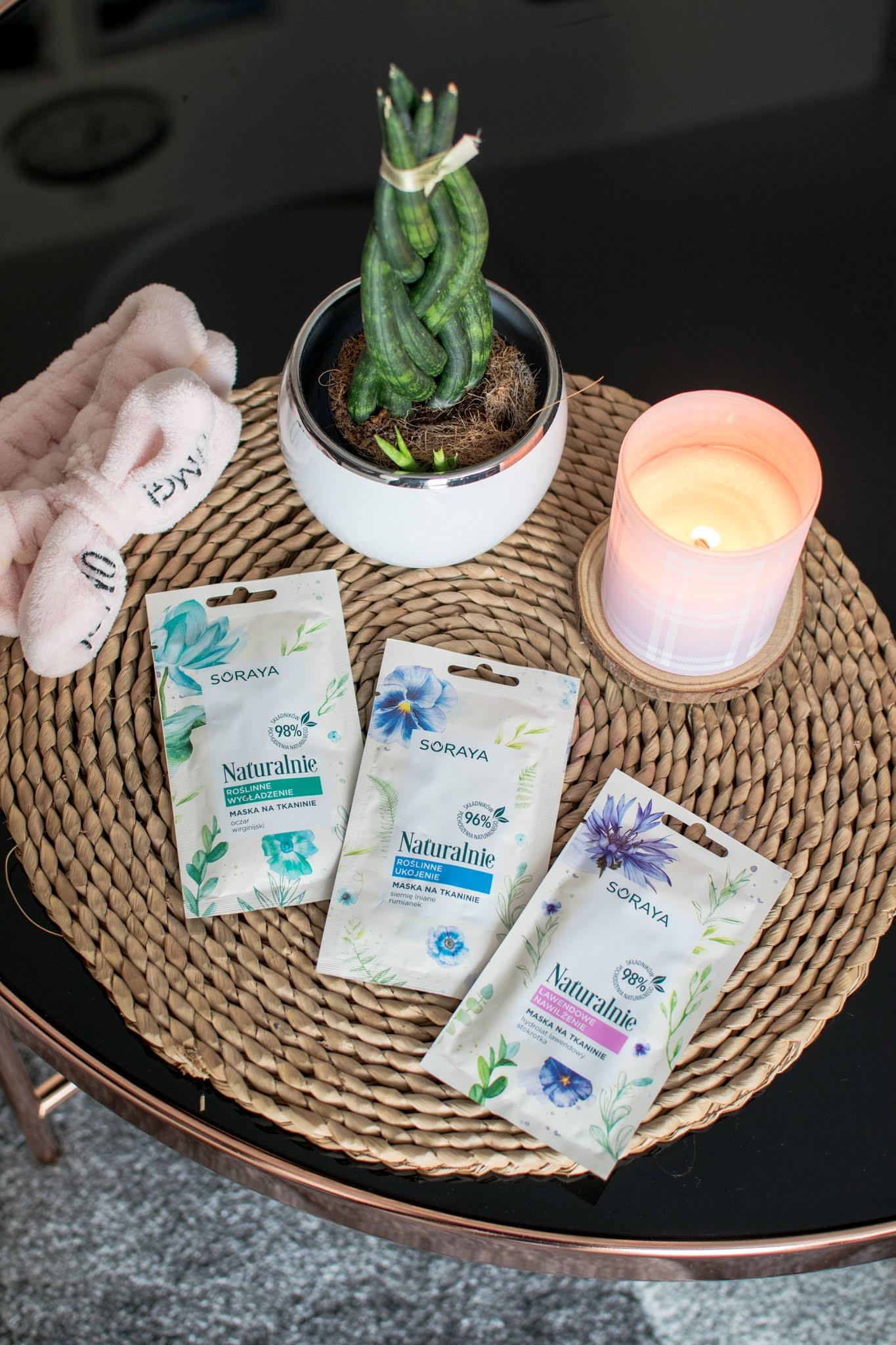 Soraya, roślinne maski na tkaninie - ukojenie, wygładzenie, nawilżenie
