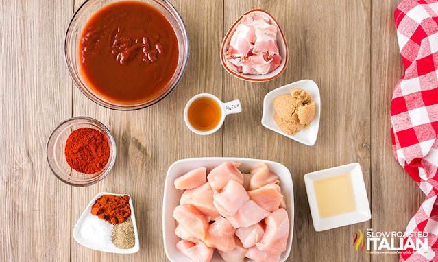 Bourbon BBQ Chicken Skewers ingredients