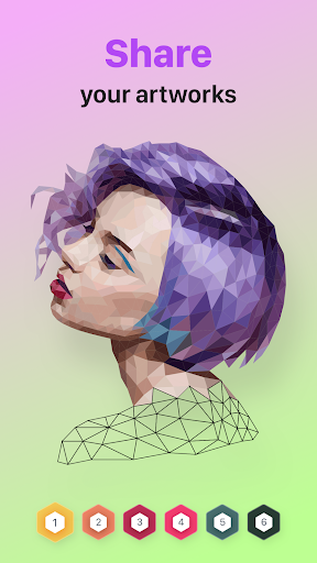 POLYGON : Coloring-Booku2219 Poly Art by Numbers filehippodl screenshot 5