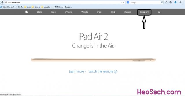 Hình 2 - Hướng dẫn kiểm tra bảo hành, xuất xứ điện thoại iPhone, iPad