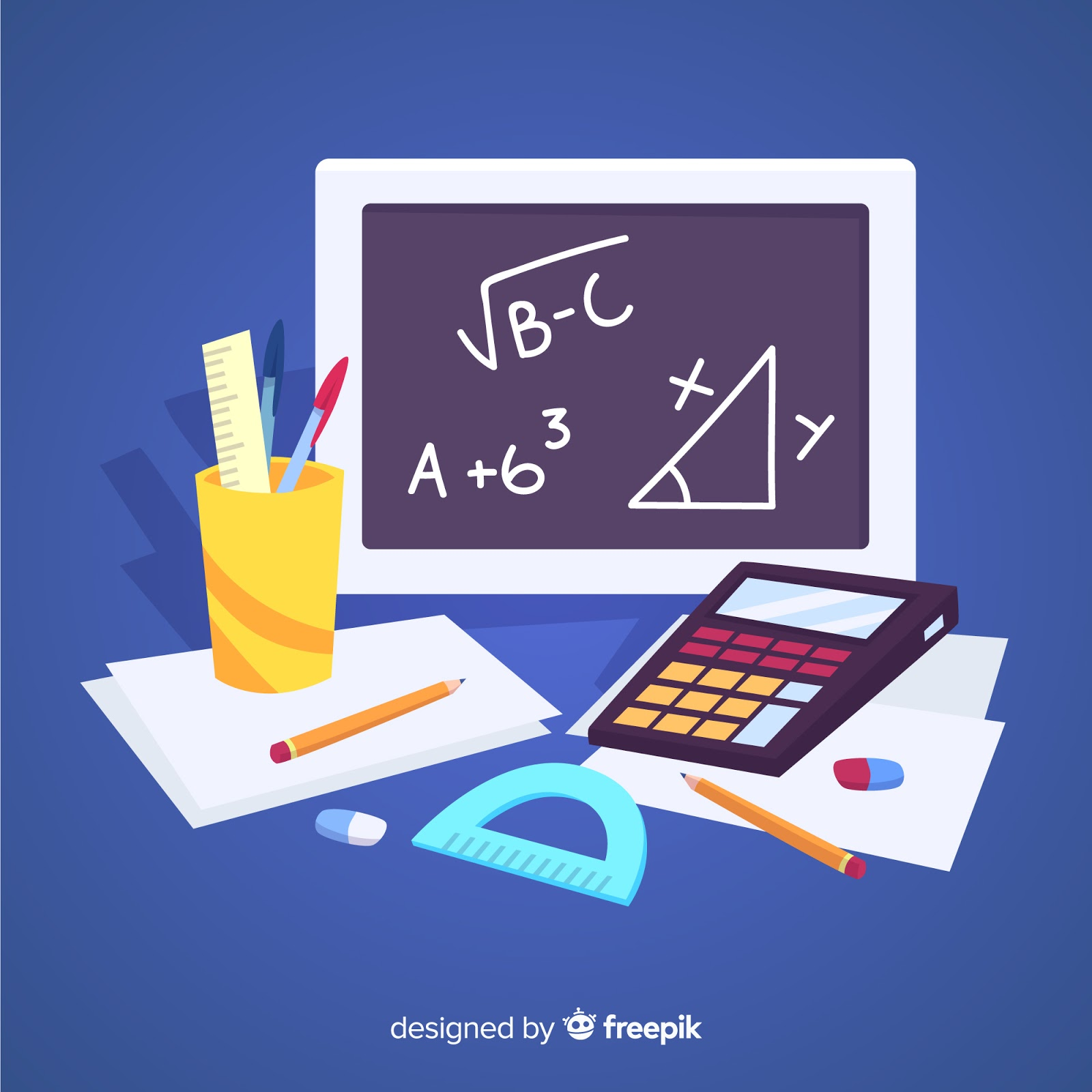 Cartoon Maths Material Background Free Download Vector CDR, AI, EPS and PNG Formats