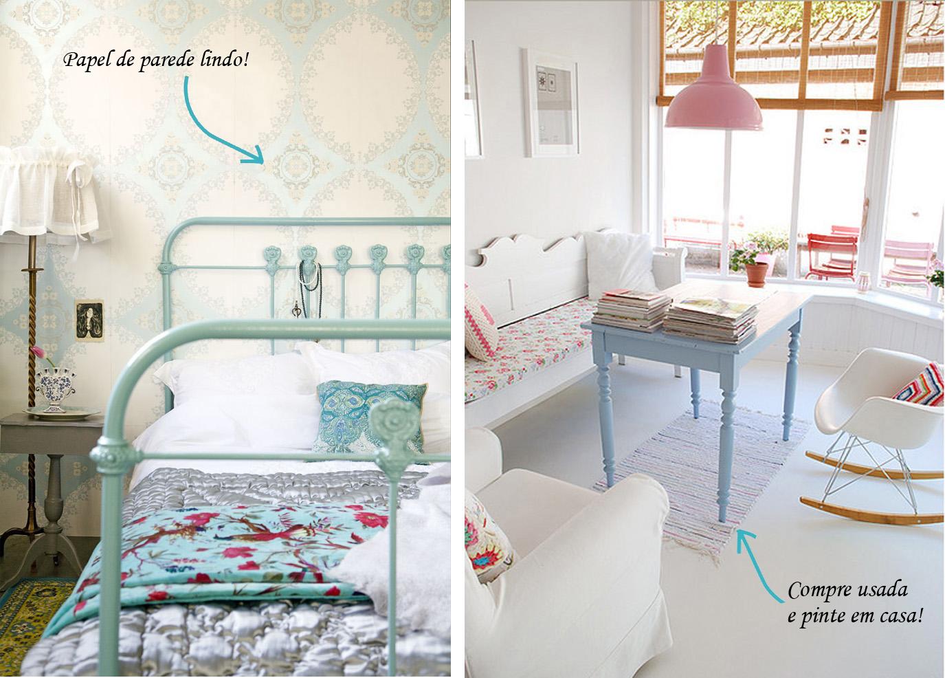 decoracao de sala tons pasteis: de encontrar em uma loja de móveis usados e pintar em casa com uma