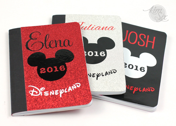 Disney autograph books with your silhouette