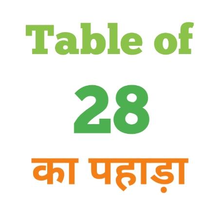 28 Ka Pahada ( 28 का पहाड़ा ) 28 ka pahada in hindi - Group Exam