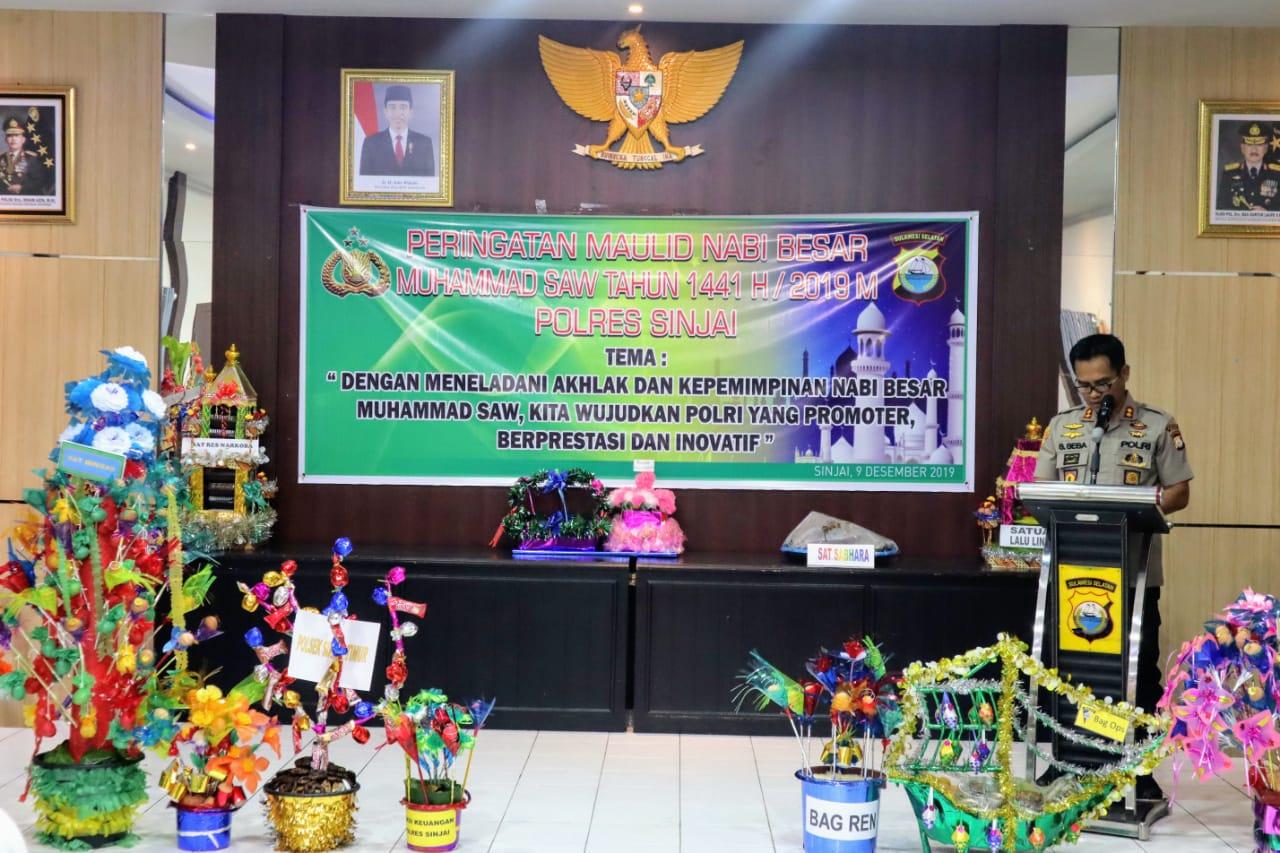 Polres Sinjai Gelar Peringatan Maulid Nabi Besar Muhammad SAW 1441 H/2019 M