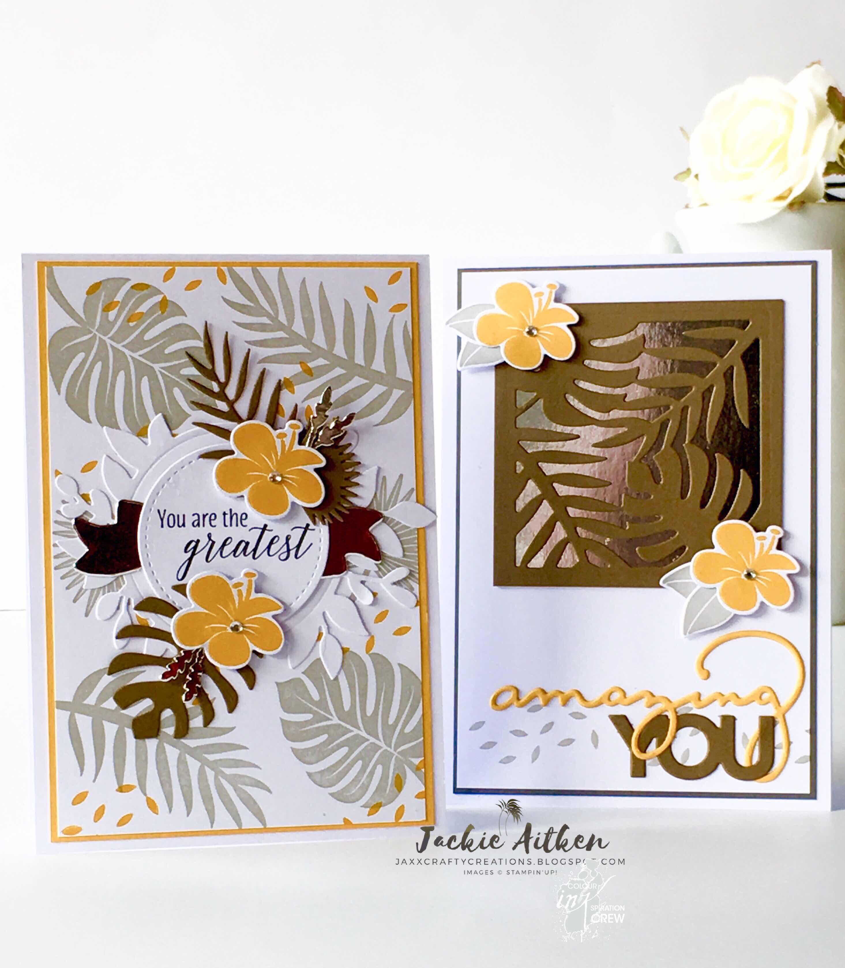 Tropical Chic, Colour INKspiration Blog Challenge, Floral Frames, Foliage Frame Framelits, Stampin' Up!