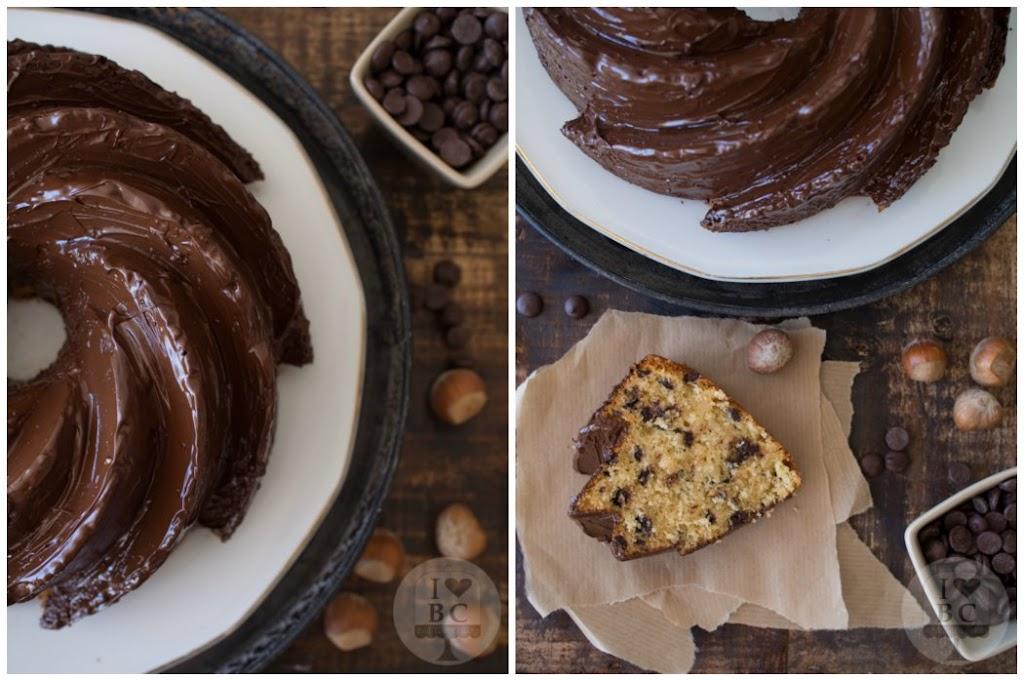 Hazelnut Chocolate Chips Bundt Cake