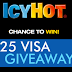 Icy Hot $25 Visa Card Giveaway - 200 Winners. Grand Prize Shaq Fantasy Experience. Daily Entry, Ends 2/28/21