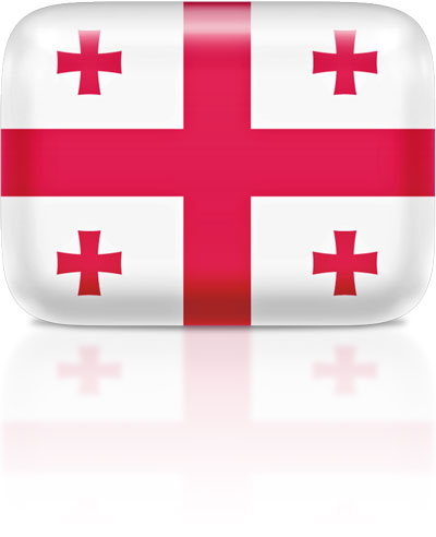 Georgian flag clipart rectangular