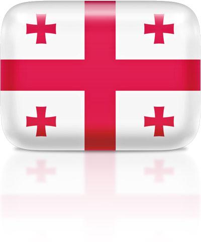 Georgian flag clipart rectangular