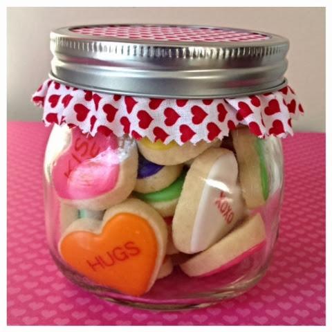 mason jar conversation hearts