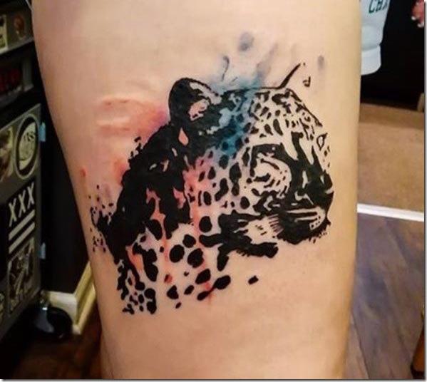 Este espaço negativo leopard