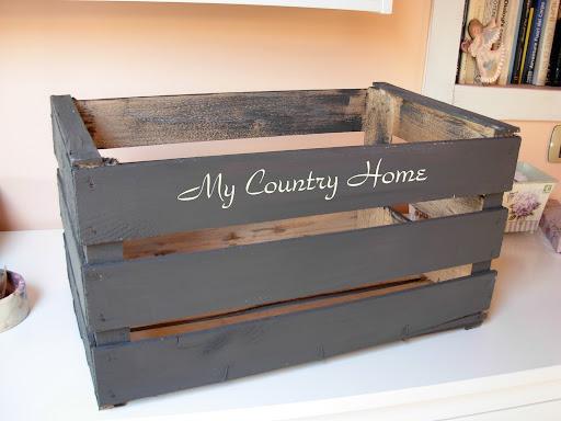 My country home cassetta shabby asciuga gessi - Scritte in legno shabby ...