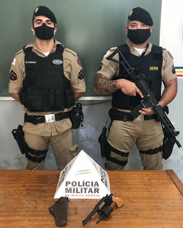Divino: Após denúncias homem é preso com arma de fogo; Ação dos Militares evitou um crime maior