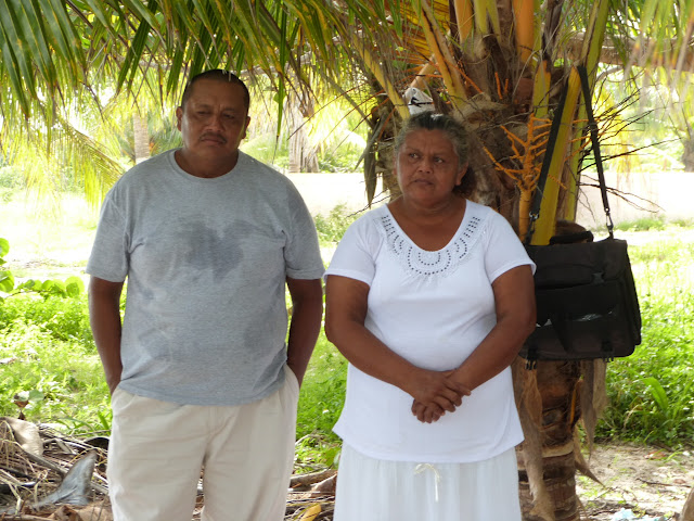 Juan and his wife Mari, recent converts, ready to be baptized.