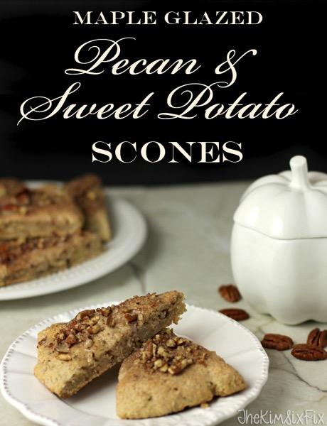 Maple glazed pecan and sweet potato scones