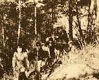 山陽自然歩道を歩く。先頭は遠藤先生(1978)
