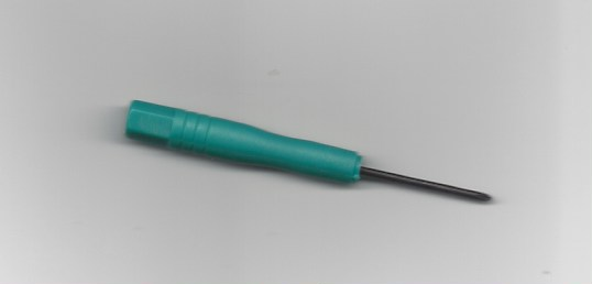 1 teeny weeny Phillips head screwdriver
