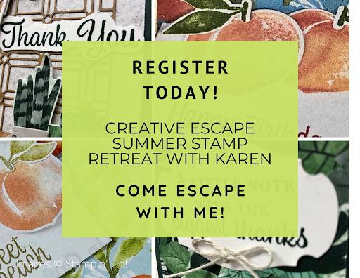Creative Escape Summer Stamp Retreat with Karen