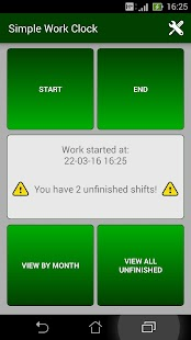 Simple Work Clock Screenshot