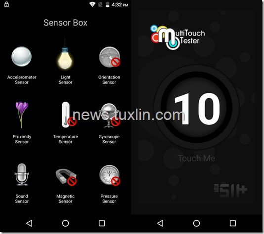 Benchmark Motorola Moto E4 Plus Sensorbox