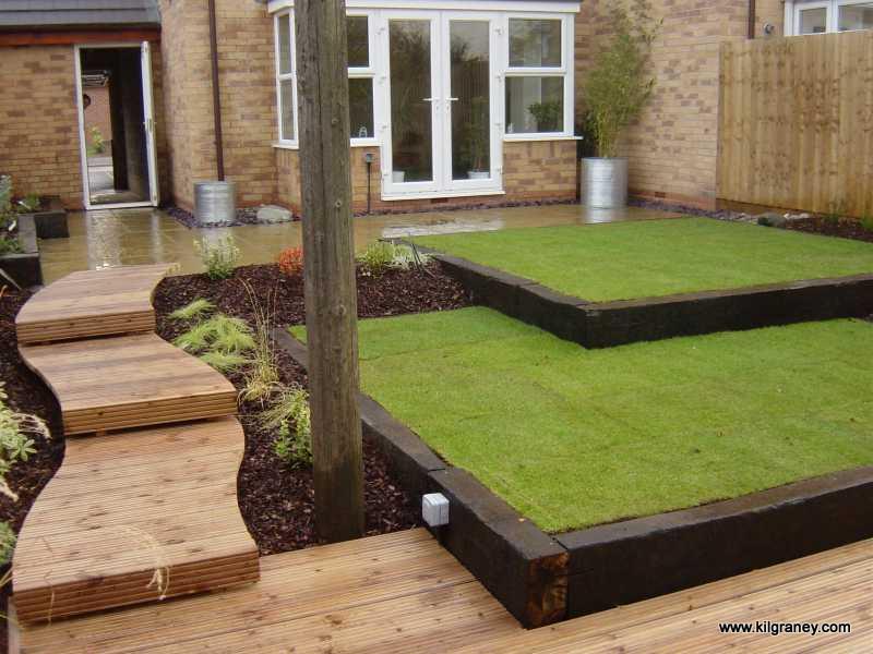 Podk ady kolejowe w ogrodzie naj adniejsze aran acje for Whats a terraced house