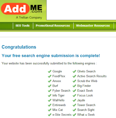 """addme search engine submission"""