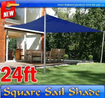 614uuEfsSxL._SX355_.jpg & Frugah New 24 Ft Sun Sail Shade Canopy Outdoor Patio Garden Navy ...